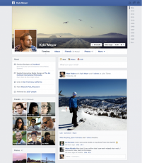 The new Facebook Timeline redesign